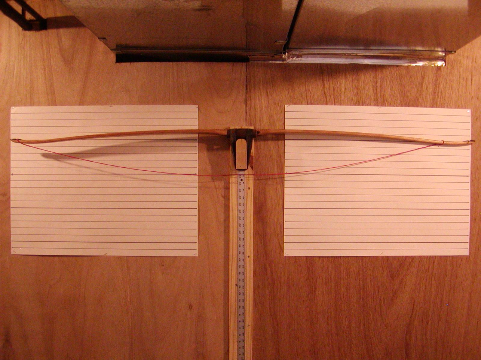 Red oak board bow unbraced