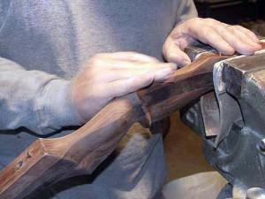 Hand sanding riser